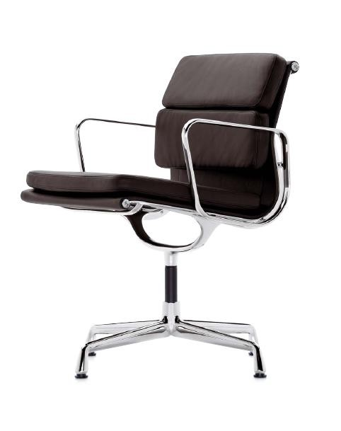 Aluminium Soft Pad Group Chair EA 207 by Charles Eames