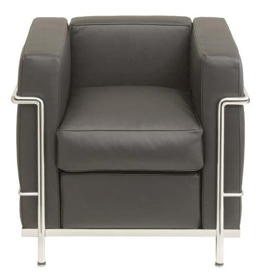 Sessel LC2 by Le Corbusier 1928 (Anilinleder schwarz)