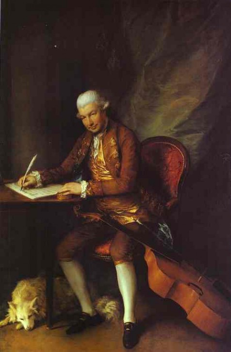 Thomas Gainsborough  Der Komponist Carl Friedrich Abel