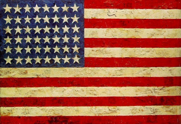 Jasper Johns The Flag 1954