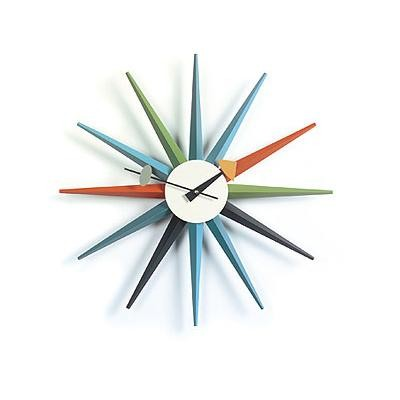 Sunburst Clock Uhr  inspired by George Nelson 1949