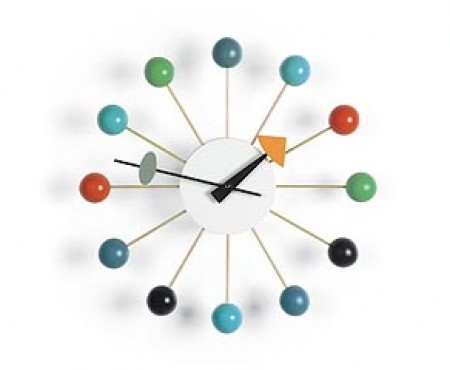 Ball Clock multicolour inspired by George Nelson 1948