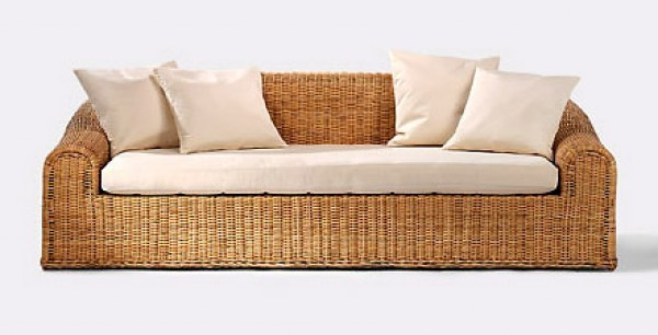 Rattan Sofa Loungesofa Fred Astaire 1978