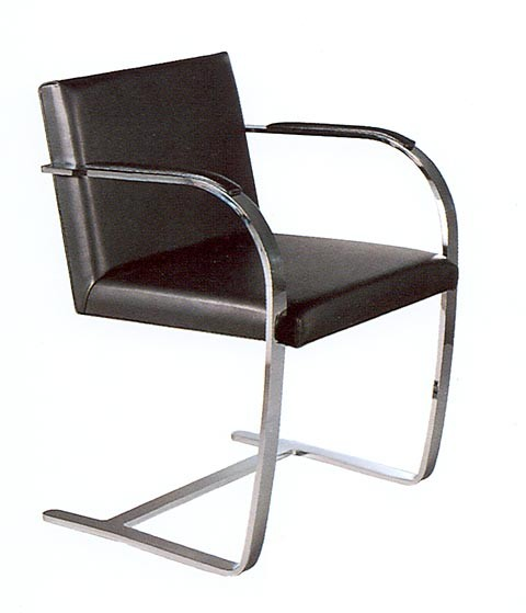 Brno Chair by Ludwig Mies van der Rohe 1929 (Anilinleder dunkelbraun)