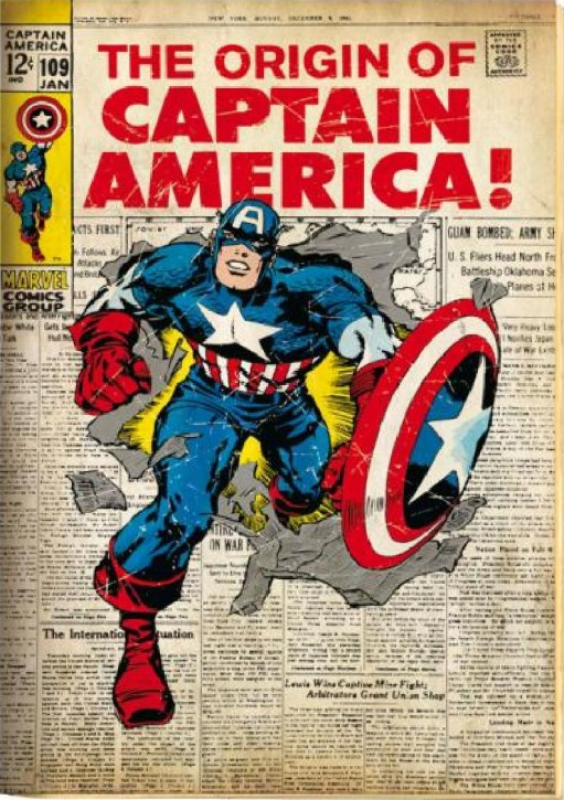Captain America retro cover Comic