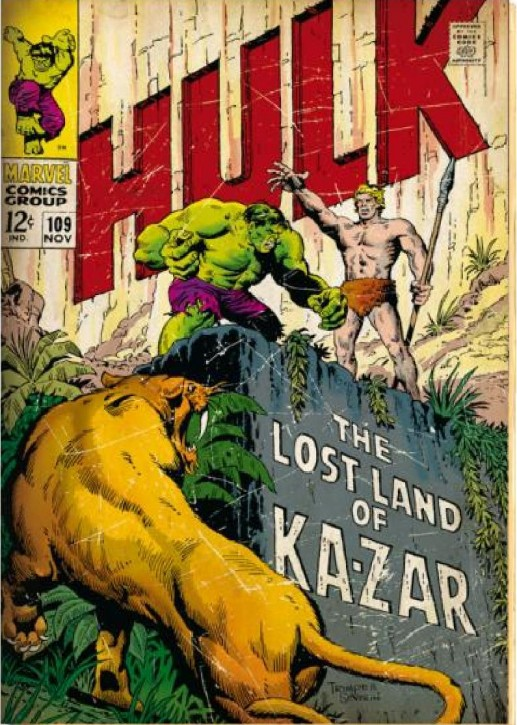 Hulk retro cover Comic