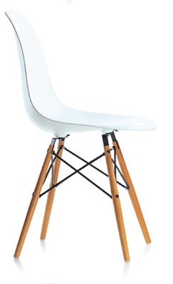 DSW Plasticchair Sidechair by Charles Eames 1950 (Polypropylen rot)