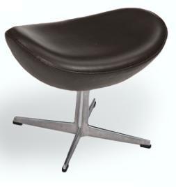 Fusshocker zum Eggchair by Arne Jacobsen 1956