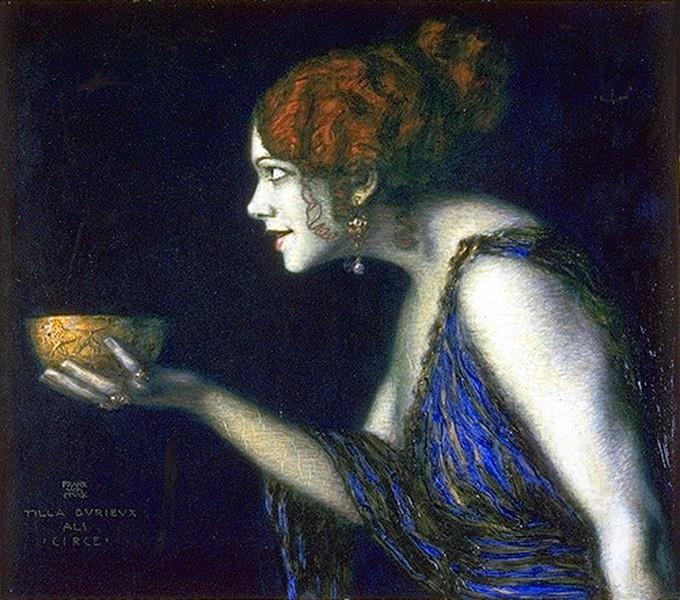 Franz von Stuck  Tilla Durieux als Circe 1913 Jugendstil
