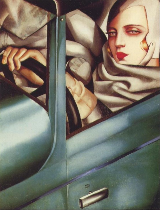 Tamara de Lempicka Green Bugatti 1925