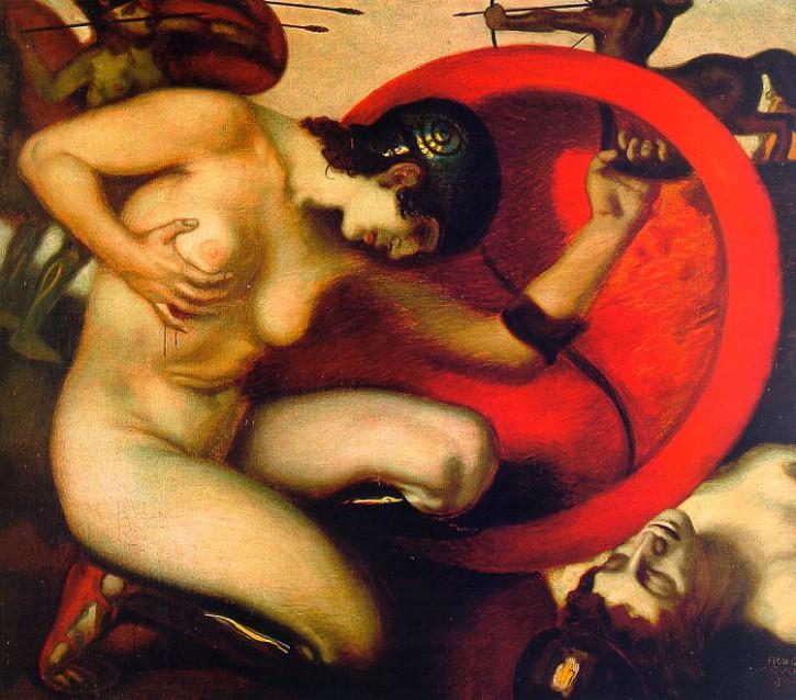 Franz von Stuck sterbende Amazone 1903 Jugendstil