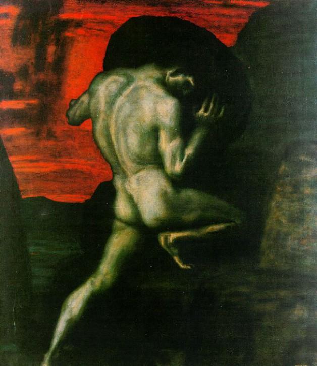 Franz von Stuck Sisyphus 1920 Jugendstil