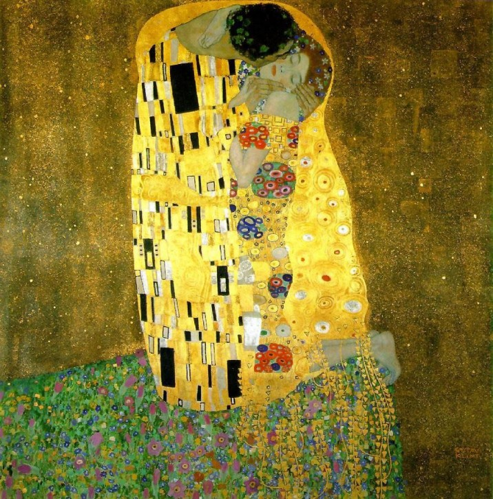 Gustav Klimt Der Kuss  Jugendstil 1908