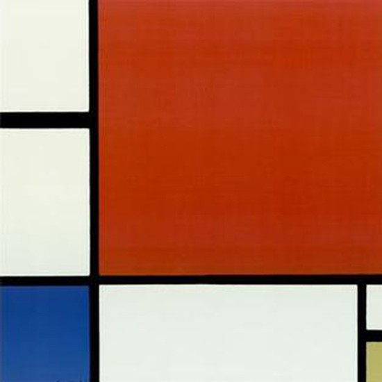 Piet Mondrian Composition Red,Yellow and Blue 1921