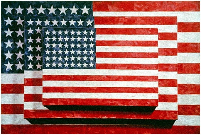 Jasper Johns Three Flags  USA 1958