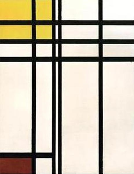 Piet Mondrian Opposition of Lines  1927