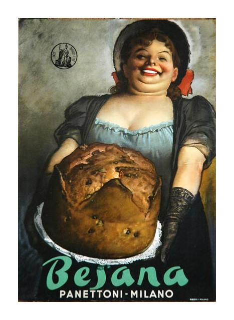 Besana Panettone by Gino Boccasile 1948