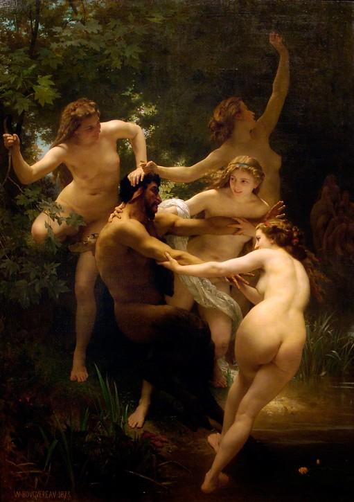 William-Adolphe Bouguereau , Nymphen und Satyr 1873