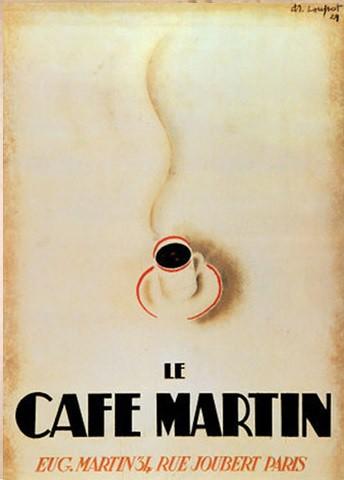 Café Martin by Charles Loupot 1929