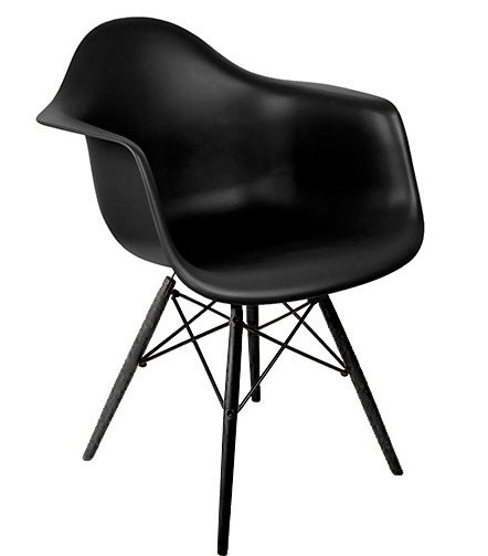 DAW Armchair Sonderedition schwarz by Charles Eames 1948