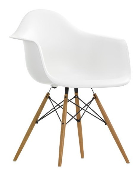 DAW Armchair by Charles Eames 1948 (Polypropylen weiß)