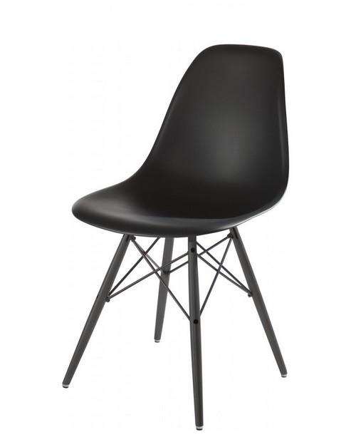 DSW Plasticchair Stuhl by Charles Eames Sonderedition black