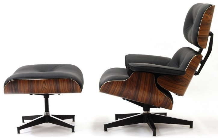 Loungechair mit Ottomane in Palisander by Charles Eames 1956