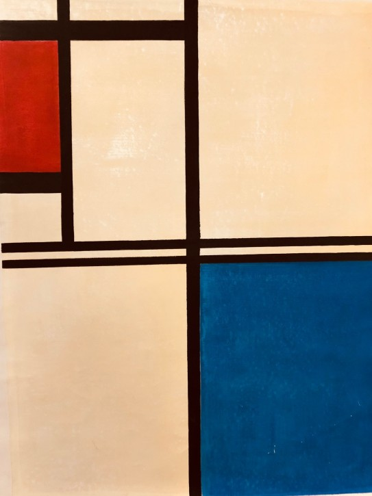 Piet Mondrian Oppostion of Lines 1923