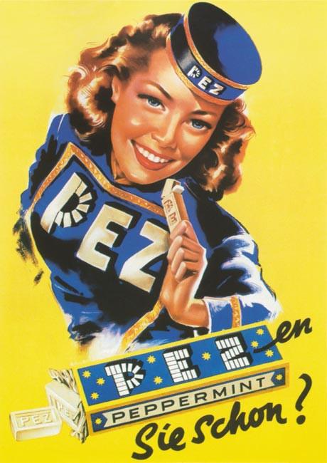 PEZ Werbeplakat 1955