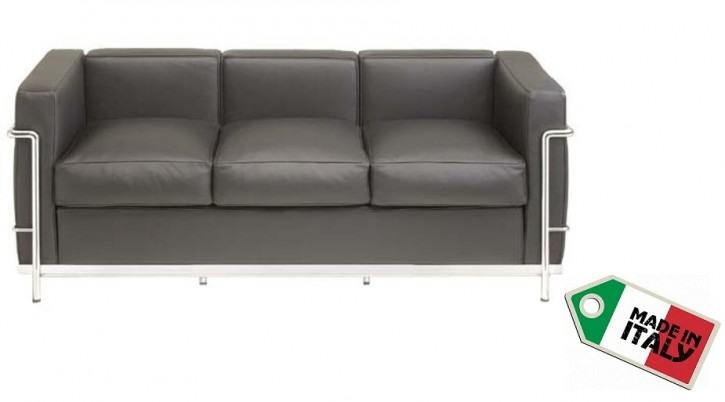 Sofa Dreisitzer LC2 by Le Corbusier