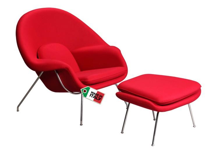 Womb Chair mit Ottomane by Eero Saarinen 1948