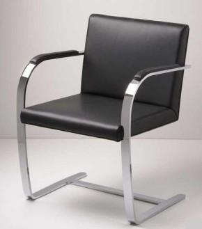 Brno Chair by Ludwig Mies van der Rohe 1929 (Anilinleder dunkelbraun)