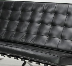 Sofa 3 Sitzer Barcelona by Ludwig Mies van der Rohe 1929 (Anilinleder creme)