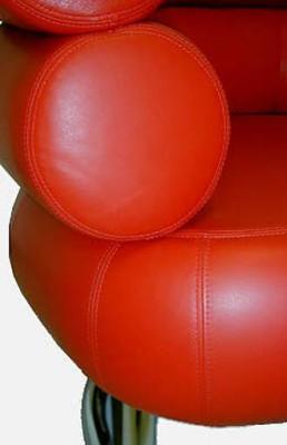 Bibendium Sessel by Eileen Gray 1924 (Anilinleder red)