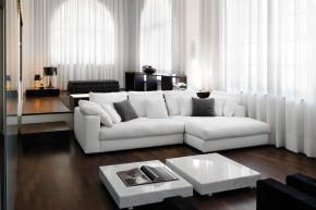 Ecksofa Summer mit Ottomane links by Alberta Italia